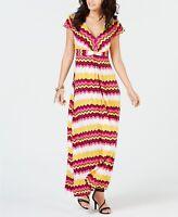 Thalia Sodi Women's Printed Maxi Dress Multi Size Large