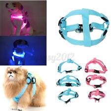 More details for light up led puppy pet dog soft padded dog harness adjustable small medium large