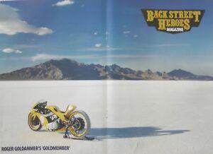 A Magazine Centre-Fold Poster - Roger Goldammer's Goldmember Custom - Salt-Flats