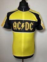 Primal AC DC AC/DC Yellow & Black Retro 2006 Cycling Jersey Unisex Shirt M RARE