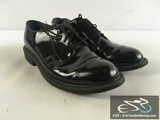 Bates Uniform Footwear Men's Black High Gloss Dress Work Shoes US Size 8.5