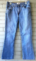 Levi Strauss Levi's Stretch Low-Rise Bootcut Size 8 Long Denim Blue Jeans