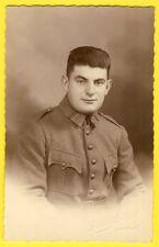 cpa Carte Photo Gaston LAURENT à CHAUMONT MILITAIRE SOLDAT du 107e Régiment