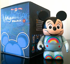 "DISNEY VINYLMATION 3"" PARK 8 FUTURE WORLD MICKEY MOUSE RAINBOW TOPPER TOY FIGURE"