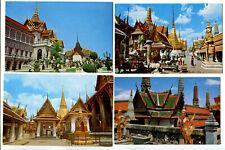Postcard M37 Bangkok THAILAND Grand Palace Temple Pantheon (4 pcs)