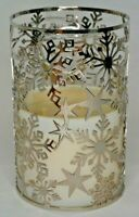 Bath & Body Works Snowflake Fragrance Melt Warmer / 3 Wick Candle Wrap Sleeve