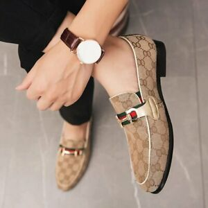 New Luxury Leather Shoes Oxford Designer Flat Handmade Moccasin Casual for Men