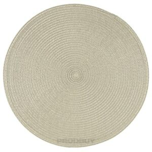 33cm Round Woven Beige Fabric Placemats Dining Room Table Place Setting Mats