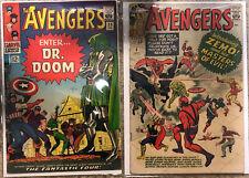 Marvel Avengers #6 & Avengers #25 Low Mid Grade Comic Books 1st Appearance Zemo