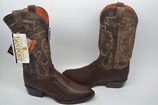 Dan Post Men's Genuine Ostrich Bellevue Western Boots 9.5 D ROUND TOE TOBACCO