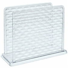 New Cooking Concepts Clear Plastic Textured Napkin Holder 5.5'' x 4.5''