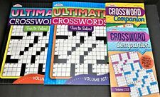 NEW Lot of 4 Ultimate Crosswords Puzzle Books Kappa 43 - 67 Puzzles in EACH