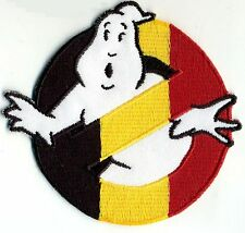 Belgium, Belgian Flag Style Embroidered Ghostbusters No Ghost Iron-On Patch