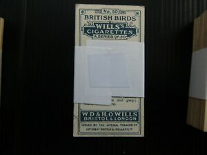 ONE COMPLETE SET CIGARETTE CARDS WILL'S BRITISH BIRDS