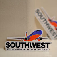 "#4094 Southwest Airlines Vintage Flight America Luggage Label 1x4"" Decal STICKER"