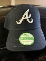 Atlanta Braves New Era Youth 39THIRTY Flex Hat - Navy