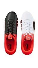 Puma Evospeed 3.5 FG Hombre Negro Rojo Cuero Zapatos Atléticos fútbol UK 10