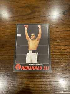 2021 TOPPS MUHAMMAD ALI THE PEOPLE'S CHAMP CARD #65 Black Parallel 31/56