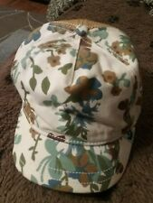 GOODWIN Womans Hat/Cap Flower pattern front & Brown textured material in back