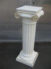 Säule antik Höhe100 weiß mit Gold  Säulen Blumensäule Dekosäule Sockel Nr.11