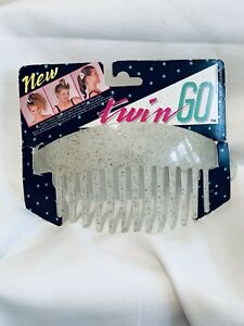 Retro 80s Beach COMBS By California Sun 2 Piece Hair Combs Set Banana NEW