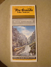 Rio Grande - Time Table - Oct. 25, 1959