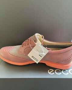 Ladies Ecco Pink Glitter Brogues Shoes Spotted Laces New UK 6 & 7