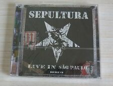 2 CD ALBUM LIVE IN SAO PAULO - SEPULTURA 21 TITRES NEUF SOUS CELLO
