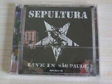 2 CD ALBUM LIVE IN SAO PAULO - SEPULTURA 21 TITRES NEUF SOUS CELLO