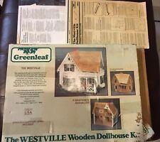 New Wooden Greenleaf Dollhouse Kit, Westville model
