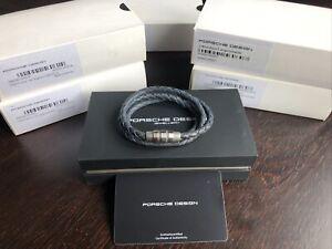 Porsche Design Bracelet Grooves Triple stainless steel,Methyl Blu19cm 21,5cm NEW