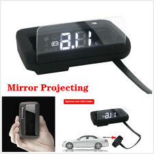 Car Head Up Display Speed/RPM/Voltage Warning Hud Obd2 Gps Projector Universal