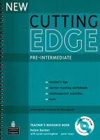 New Cutting Edge Pre-Intermediate Teachers Book and Test Master CD-ROM Pack by H