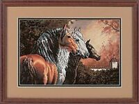 Equine Trio 3 Horses Cross Stitch Kit Dimensions Gold Collection Code 35091