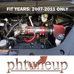 RED 2007-2011 GMC ACADIA CHEVY TRAVERSE 3.6 3.6L V6 RAM AIR INTAKE KIT + FILTER