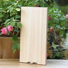 "Japanese SHIMANTO Hinoki Wood Cutting Board MANAITA 340mm 13.3"" w/stand"