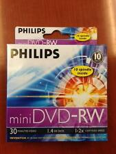 20-pk Philips Mini 2x DVD-RW 1.46GB Blank Rewritable DVD 4 Digital Camcorders