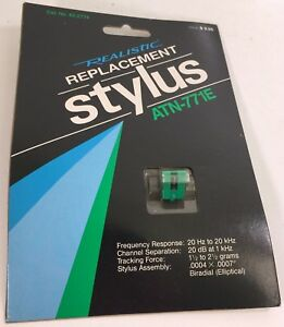 REALISTIC ATN-771E Stylus Needle NOS Elliptical Diamond Technics 42-2774
