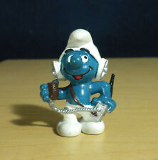 Smurfs CB Operator Smurf Radio Headphones Figure Vintage Toy PVC Figurine 20143