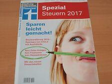 """Stiftung Warentest: Spezial """"Steuern 2017 Sparen leicht gemacht"""" 1A!"""