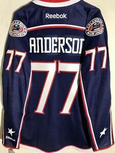 Reebok Premier NHL Jersey Columbus Blue Jackets Josh Anderson Navy sz L