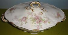 VHTF CHARLES AHRENFELDT large FRENCH LIMOGES #4275 oval COVERED VEGETABLE DISH