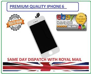 """iPhone 6 4.7"""" White OEM Premium Quality Front Touch Digitizer & LCD Screen AAA+"""