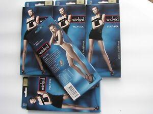 Wicked Seductive Curves DESIRE Stockings - Black-AVG-5 PAIRS-Peep Toe