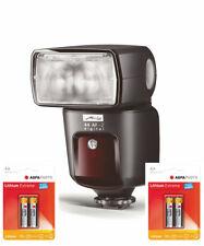 Metz Mecablitz 44 AF-2 digital Blitz für Nikon inkl. 4 AA Lithium Zubehörpaket