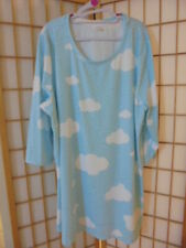 NEW ❤NANU❤ BLUE & WHITE CLOUDS STATEMENT 3/4 SLEEVE TUNIC/TOP PLUS SZ 3X (20-22)