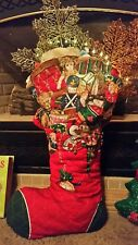 Gigantic Quilted Fabric Christmas Stocking ~ Every Child's Dream! Jingle Bells