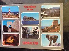 B1e postcard used stamped franked gibraltar views 2001
