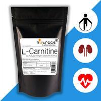 Nutrics® L CARNITINE 630mg x 90 Vegan Capsules Energy Endurance Amino Acid