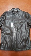 NWT $4000 DIRK BIKKEMBERGS SPORTS COUTURE  RACER BIKER TEXTURED LEATHER 40 42